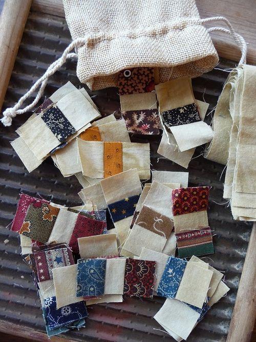 Fabric scraps from Karen