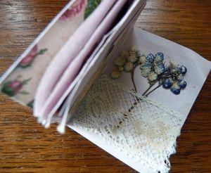 Inside her tiny scrapbook (1)