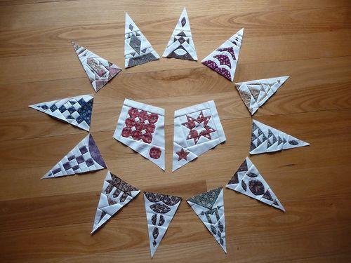 12 triangles & corner blocks