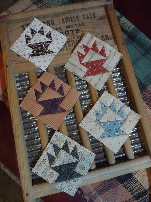Five little basket blocks