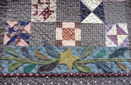 Wool applique ~ bottom border