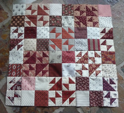 Quilters Madder flimsy