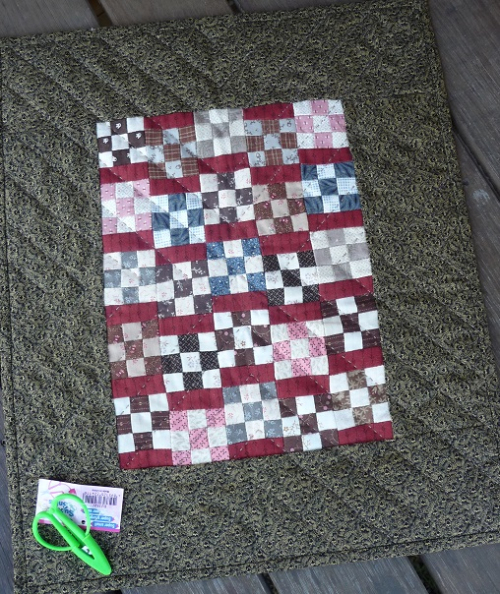Doll quilt from Debra